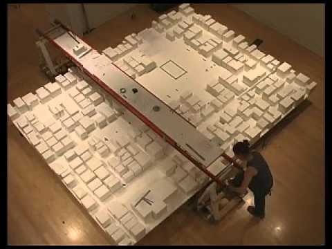 Installation of a site model of Ryue Nishizawa's Moriyama House.