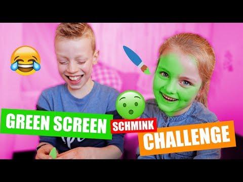 GREEN SCREEN SCHMINK CHALLENGE! [Extra Moeilijk] ♥DeZoeteZusjes♥
