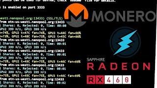 Monero/Electroneum mining RX 460/560 Hashrate