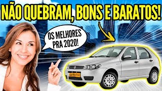 7 CARROS BONS e BARATOS pra COMPRAR em 2020!