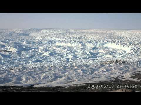 Jakobshavn Isbræ kælver - timelapse-video fra Nature/Videnskab.dk
