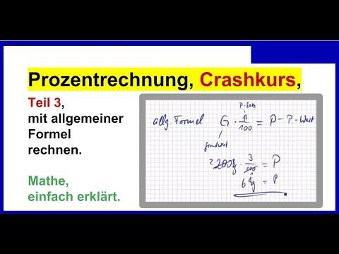 Prozentrechnung Einfach Erklärt Crashkurs Teil 3 Mit Der Formel