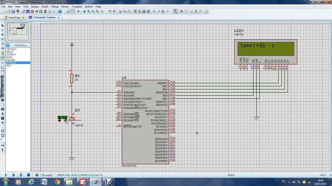 controle de temperature . avec le LM335 / ARFAOUI SABRI - YouTube