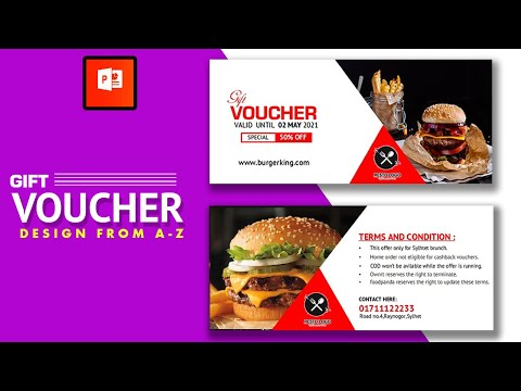 Gift Voucher Design In PowerPoint | Discount Card Design | 2020