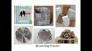 10 smart ways to reuse or recycle Old Newspaper | Learning Process