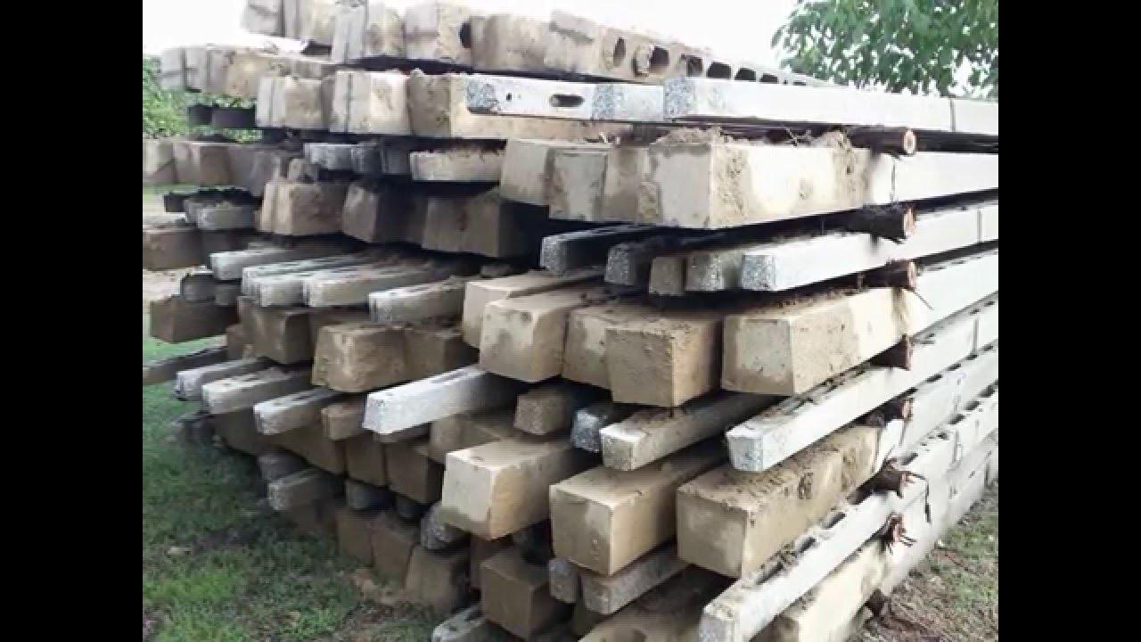 pali in cemento per vigneto o recinzione traforati n 140