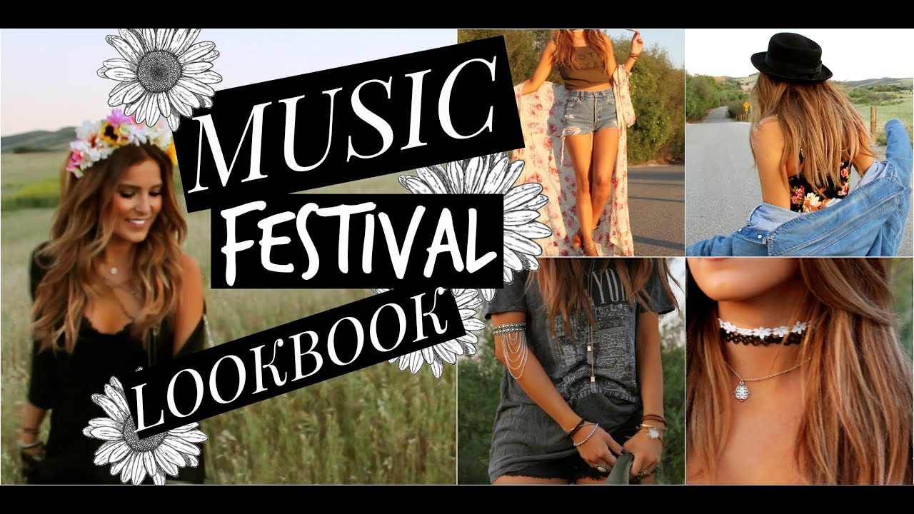 WHAT TO WEAR TO A MUSIC FESTIVAL/LOOK BOOK
