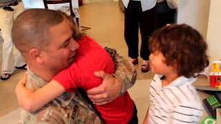 Soldier Surprises His 3 Children Just in Time2018 compilation video Soldiers coming home