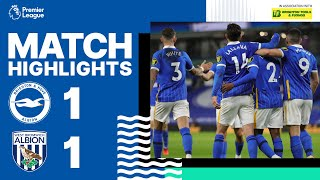 PL Highlights: Brighton & Hove Albion 1 West Bromwich Albion 1