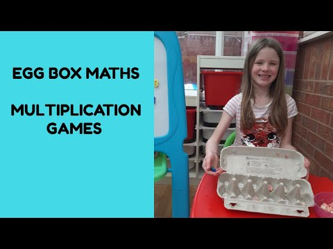 Egg Carton Multiplication Games - Practising Times Tables