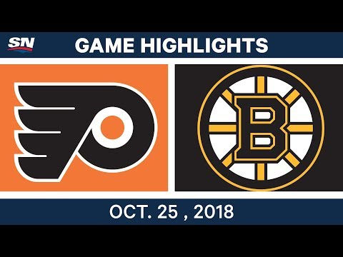 NHL Highlights | Flyers vs. Bruins - Oct. 25, 2018