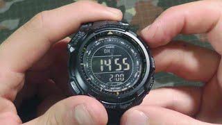Часы Casio ProTrek 110Y: обзор и настройки(В кадре часы наручные мужские Casio ProTrek PRG-110Y-1VDR (1100 модель аналогична этой, кроме радиосинхронизации) и PRG-110T-7VD..., 2013-09-21T12:24:12.000Z)