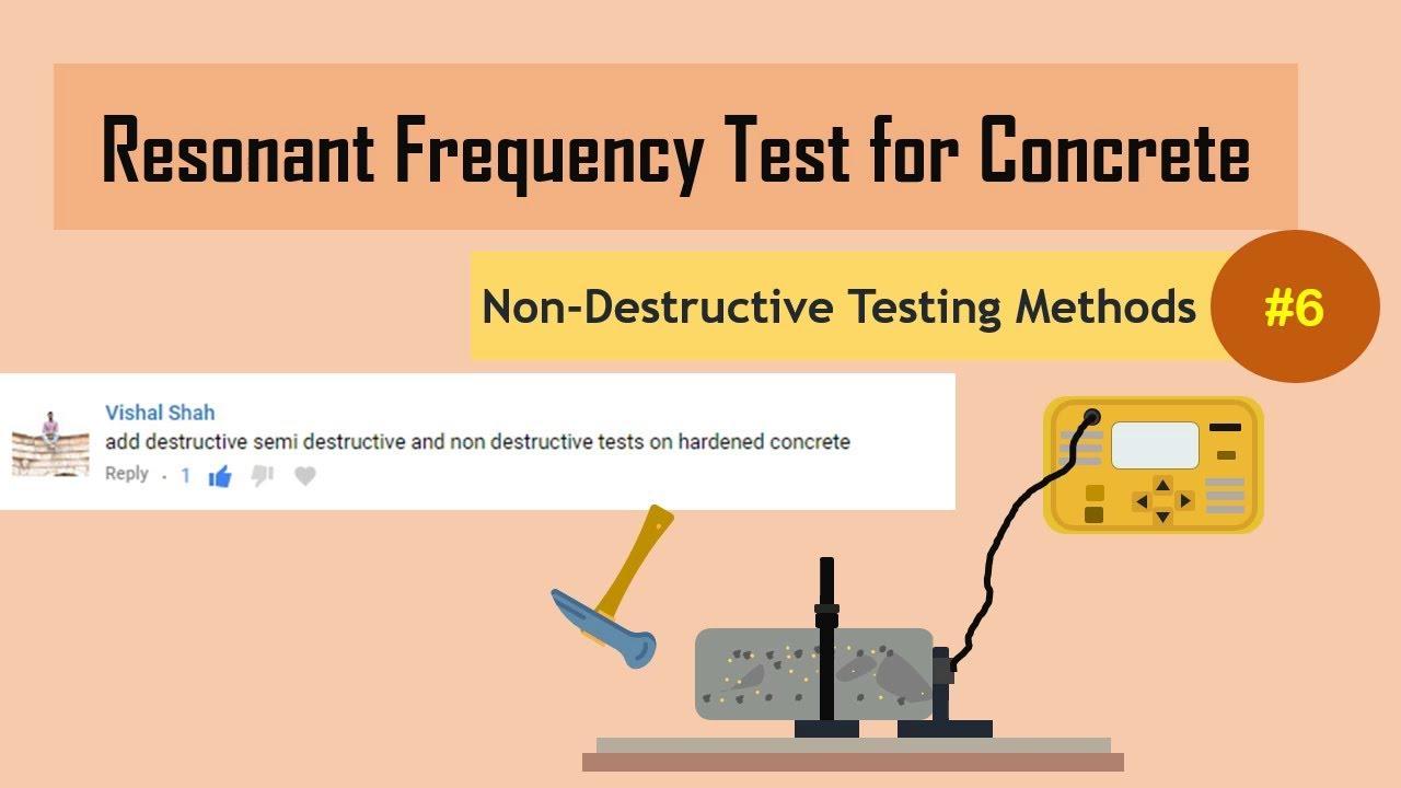 Non Destructive Tester : Resonant frequency test for concrete non destructive
