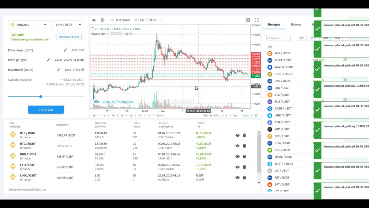 trading bot cryptocurrency dallas