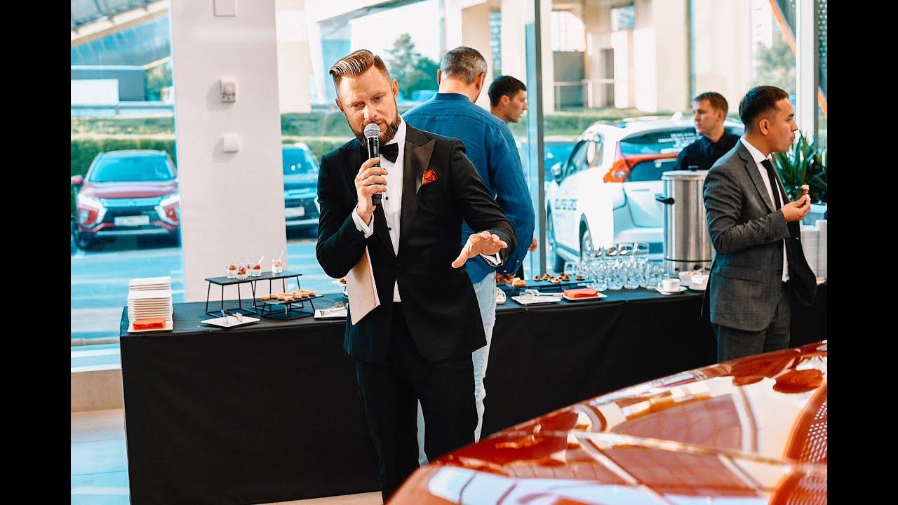 Илья Сорокин Ведущий на открытие автосалона Inchcape Mitsubishi