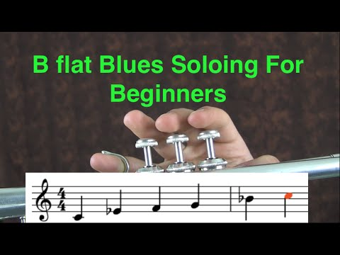 B-flat Blues Soloing on Trumpet for Beginners