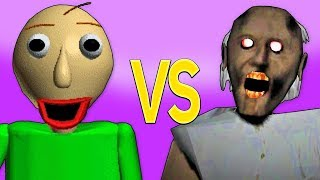 ГРЕННИ VS БАЛДИ | СУПЕР РЭП БИТВА | Granny Horror Game ПРОТИВ Baldi