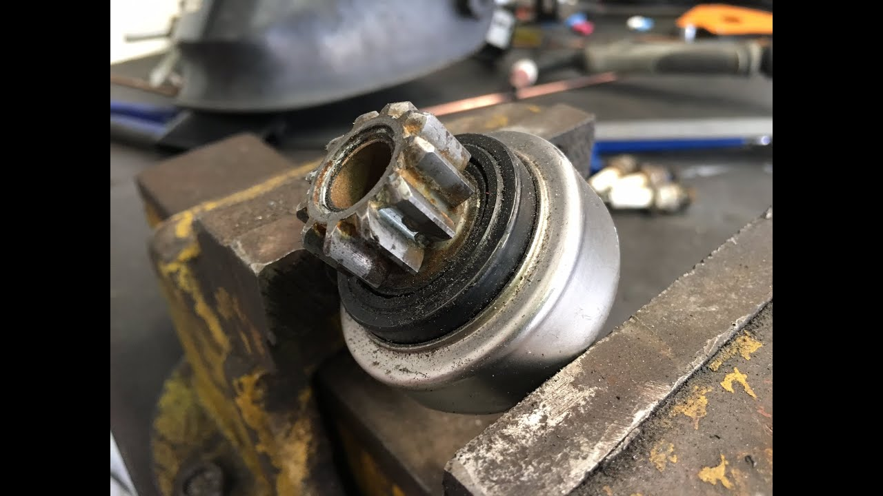 starter motor pinion bendix gear not engaging with flywheel [ 1280 x 720 Pixel ]