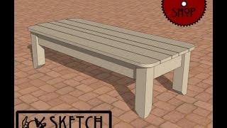 Chief's Shop Sketch Of The Day: Patio Bench