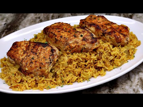 The Best Oven Baked Pork Chops and Rice EVER!!! | Baked Pork Chops Recipe