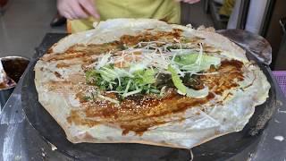 Crispy Jianbing | Bread, Egg, Meat & Vegetable Compilation | #mTube Foods