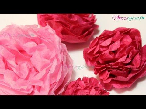 Fiori di carta tessuto tutorial nozzeggiando youtube - Decorazioni con fazzoletti di carta ...