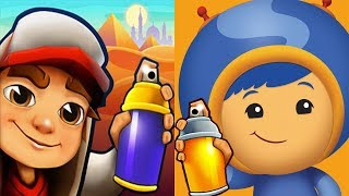 Subway Surfers Vs Team Umizoomi Math Racer - Gameplay Walkthrough Part 12  Ios, Android