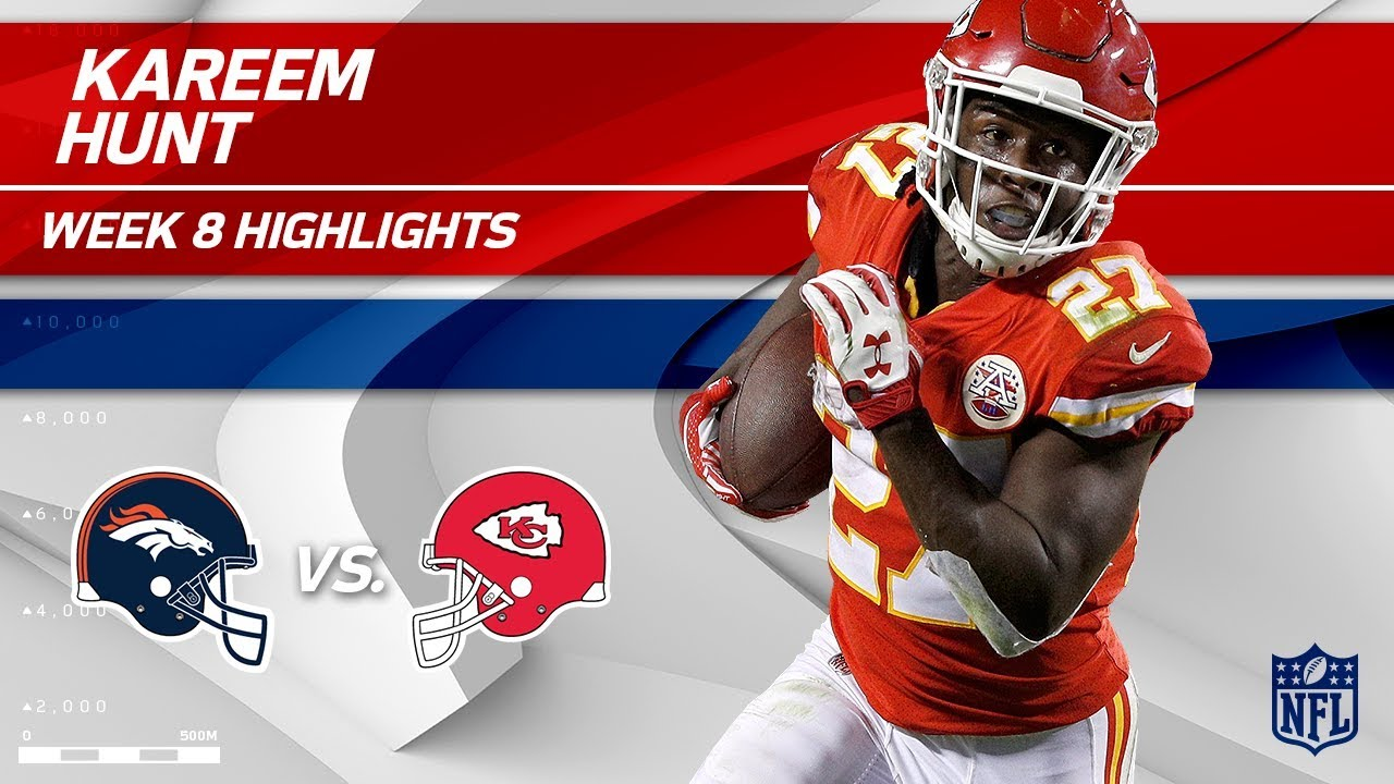 newest cec82 79259 Kareem Hunt Highlights | Broncos vs. Chiefs | Wk 8 Player Highlights