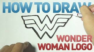 How to Draw a Cartoon - Wonder Woman Logo (Tutorial Step by Step)