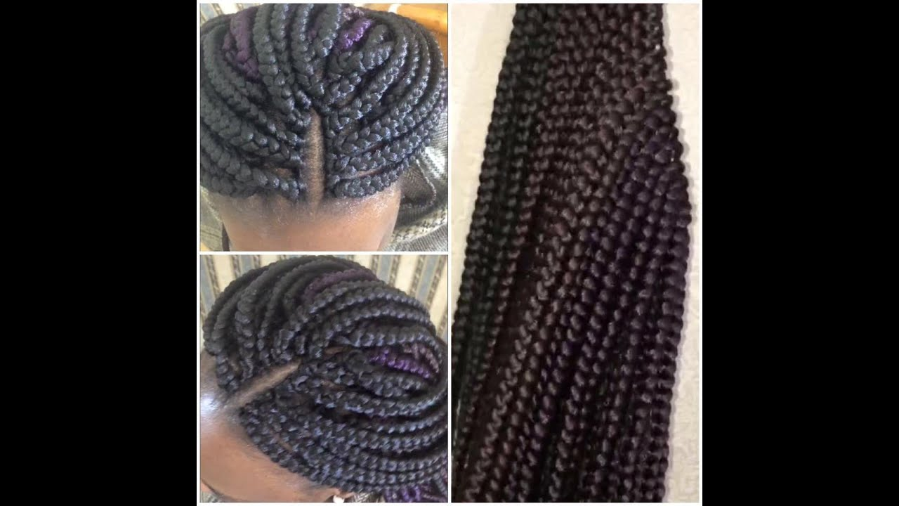 How to Pre-braid Box Braids Crochet Method *NEW 2016* - YouTube