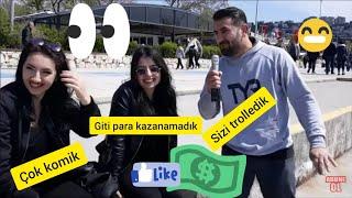 #Sosyal Deney, Soğuk Şaka Yap Kimse Gülmesin! 20 lira KazanSOKAK RÖPORTAJLARI VS  SOSYAL DENEY