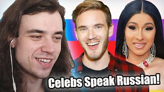 Russian Reacts to Celebrities Speaking Russian
