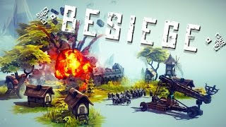Besiege - Как играть? (Джип, кран, катапульта)
