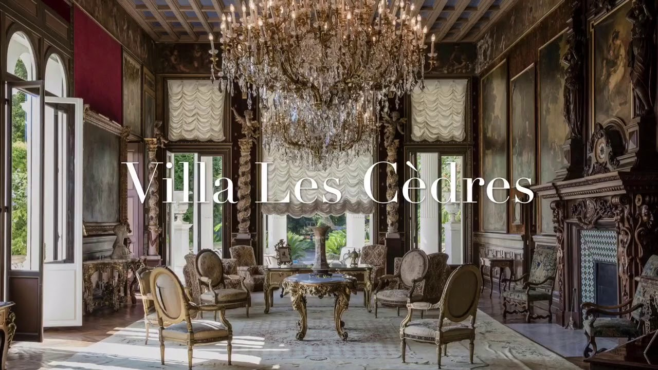 Villa Les Cèdres - the most expensive villa in the world. - YouTube