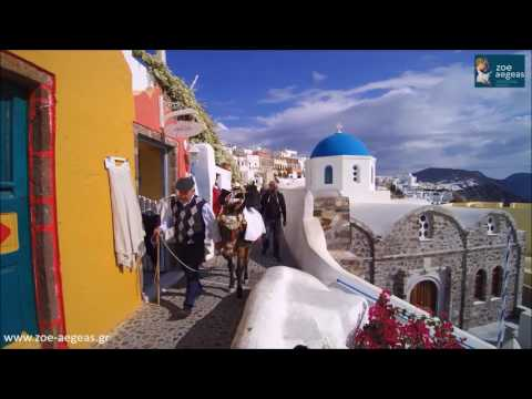 Zoe Aegas Traditional Houses (30 sec clip), Oia, Santorini, High Definition