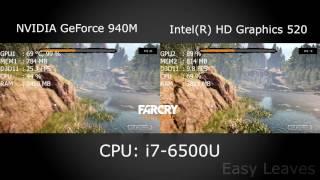 NVIDIA GEFORCE 940M vs INTEL HD 520! FAR CRY PRIMAL