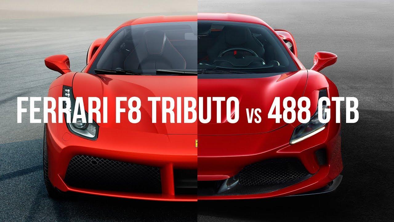 Ferrari F8 Tributo Vs 488 Gtb Youtube