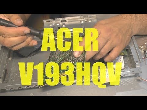 How To Repair Acer Monitor V193hqv