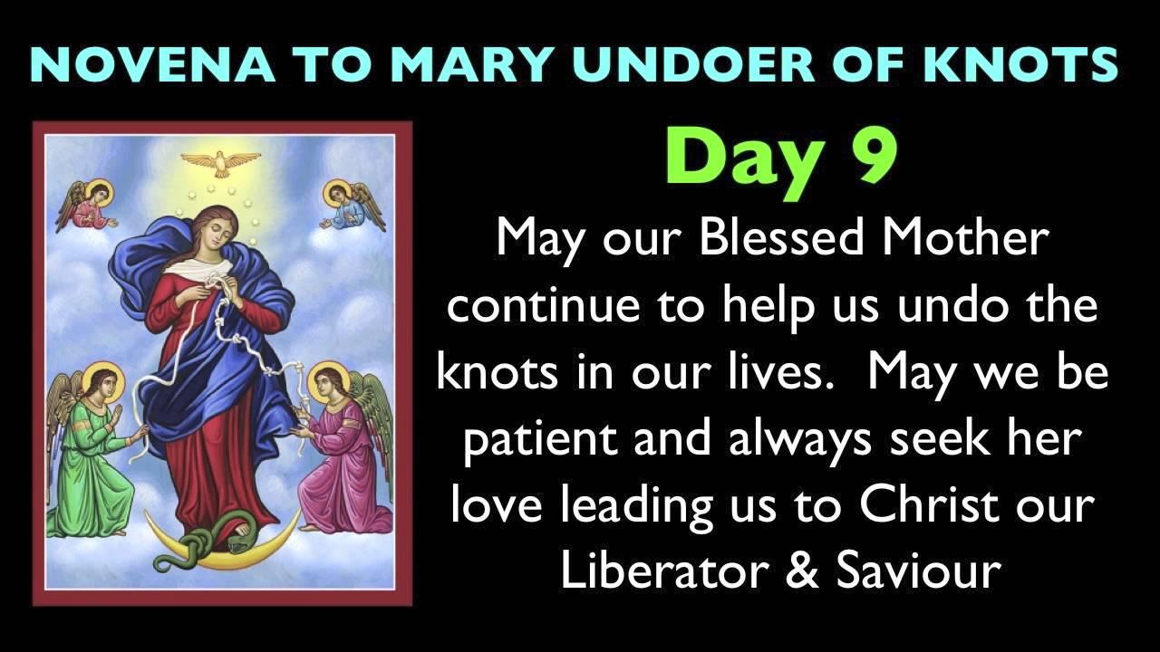 Mary Undoer of Knots Novena Day 9 - YouTube