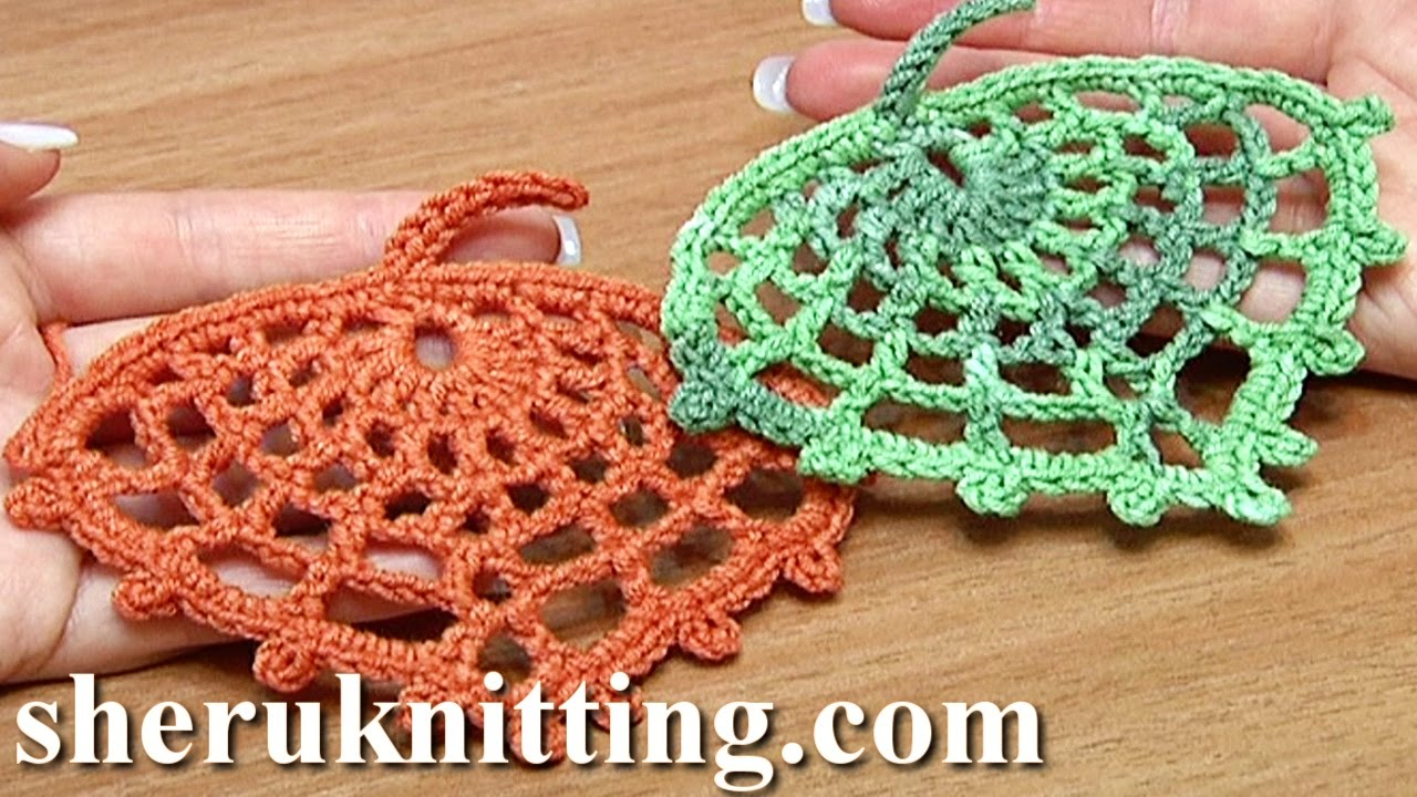 How to crochet spider web leaf tutorial 15 youtube bankloansurffo Images