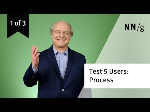 Usability Testing w. 5 Users: Design Process (video 1 of 3)