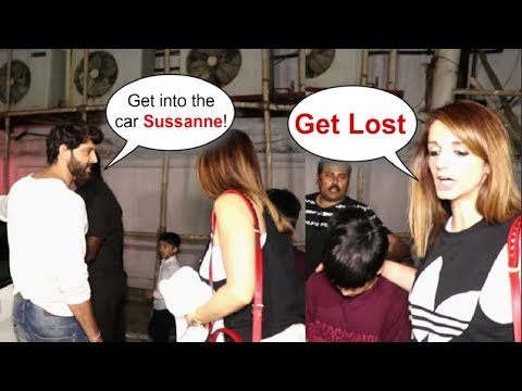 Hrithik Roshan FIGHTS With Ex Wife Sussanne Khan Roshan In Public
