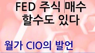 연준(FED) 주식매수도 할수 있다 - 월가 CIO의 발언