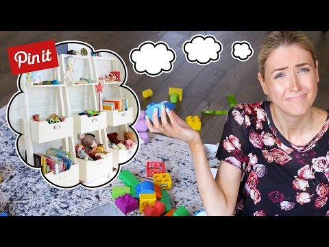 I Tried a PINTEREST KIDS TOYS DECLUTTER & ORGANIZATION || Spring Cleaning!