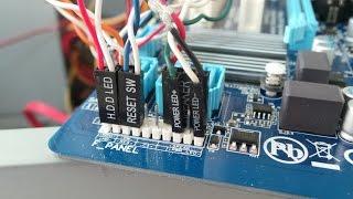 Подключение индикаторов передней панели компьютера к материнской плате