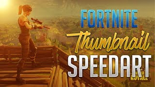INSANE FORTNITE THUMBNAIL SPEEDART (GRATUIT GFX)