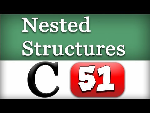 51 | Nested Structures in C Programming Language Video Tutorial