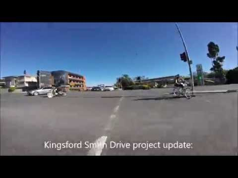 Kingsford Smith Drive temporary cycle route 22 Sep 2016