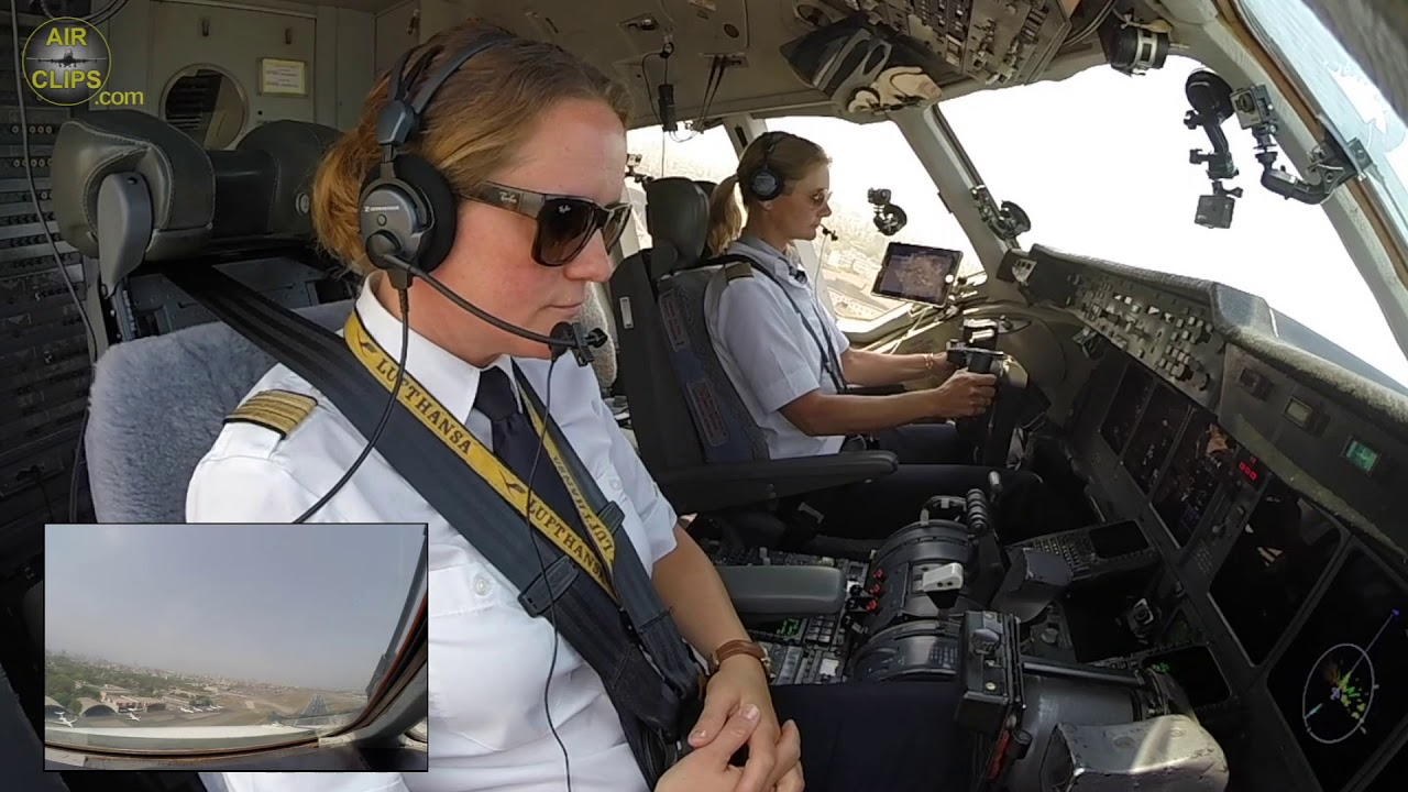 PERFECT TEAMWORK! Captain Inge and Claudia conducting POWERFUL MD-11F Takeoff from India! [AirClips]