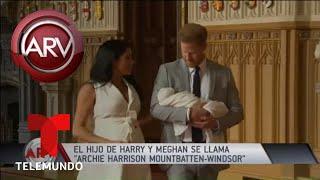 Así se llama el hijo de los Duques de Sussex | Al Rojo Vivo | Telemundo